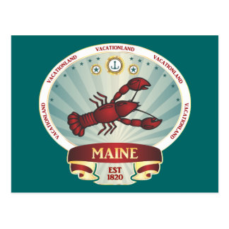 Maine Lobster Crest Postcard