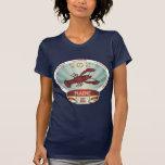 Maine Lobster Crest Tee Shirts