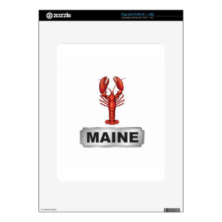 Maine lobster decals for the iPad
