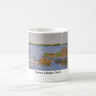 Maine Lobster Dock Coffee Mug