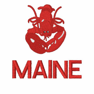 Maine Lobster Embroidered Polo Shirt-Can Edit Text