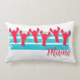 Maine Lobster Line Retro Style Lumbar Pillow