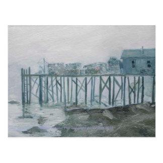 Maine Lobster Pier Post Card from original art.