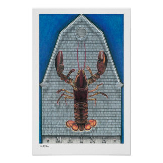 Maine Lobster Posters, Prints and Frames