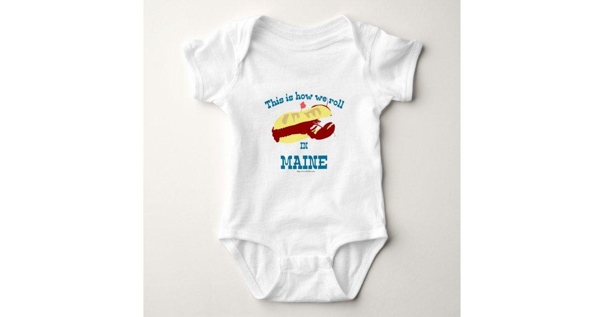 Maine Lobster Roll Baby Bodysuit | Zazzle