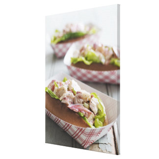 Maine Lobster Roll Gallery Wrapped Canvas