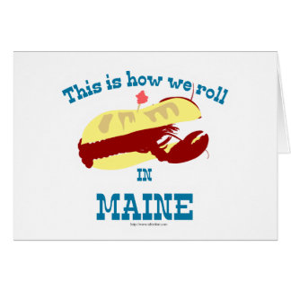 Maine Lobster Roll Card