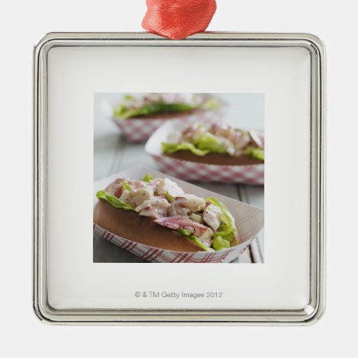 Maine Lobster Roll Christmas Ornament | Zazzle