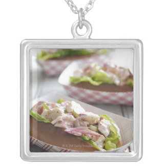 Maine Lobster Roll Custom Necklace
