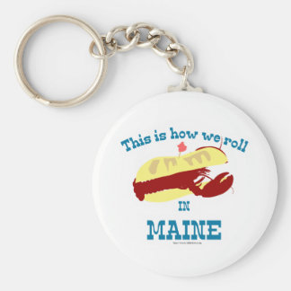 Maine Lobster Roll Keychain