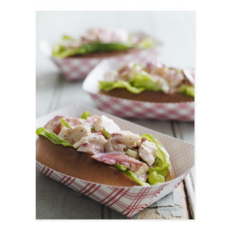 Maine Lobster Roll Post Card