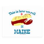Maine Lobster Roll Postcard