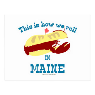 Maine Lobster Roll Post Cards