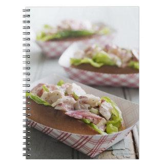 Maine Lobster Roll Spiral Notebook