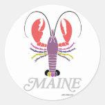 Maine Lobster Round Sticker
