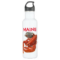 Maine Lobster Stainless Steel Water Bottle