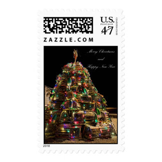 Maine Lobster Trap Christmas Tree Stamp