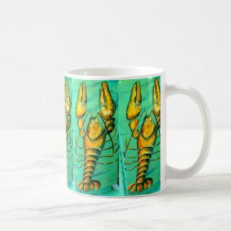 maine lobsters green coffee mug