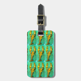 maine lobsters green luggage tag