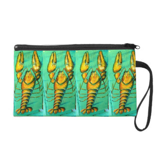 maine lobsters on green wristlet