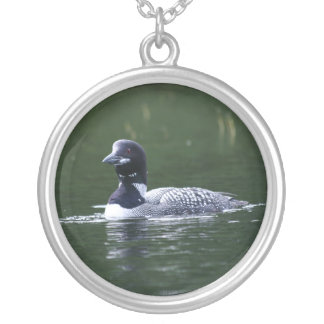 Maine Loon Silver Plated Necklace