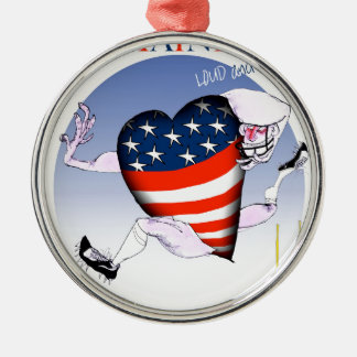 maine loud and proud, tony fernandes metal ornament