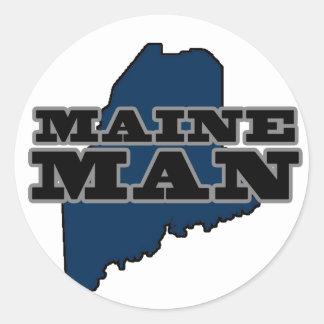 Maine Man Classic Round Sticker