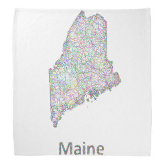Maine map bandana
