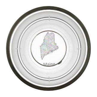 Maine map bowl