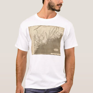 Maine Map by Arrowsmith T-Shirt