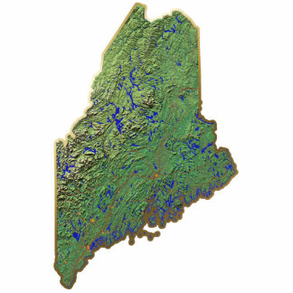 Maine Map Keychain Cut Out