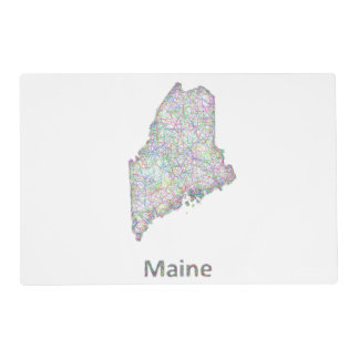 Maine map placemat