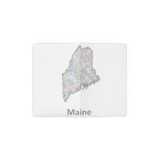 Maine map pocket moleskine notebook