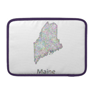 Maine map sleeve for MacBook air