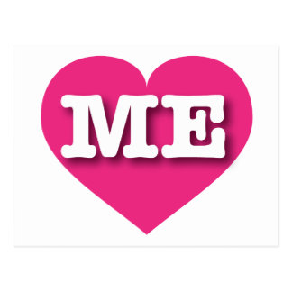 Maine ME hot pink heart Postcard