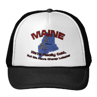 Maine ME Motto We re Really Cold But Have Cheap Trucker Hats