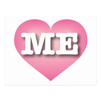Maine ME pink fade heart Postcard