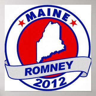 Maine Mitt Romney Poster