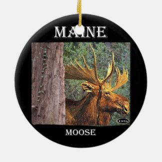 Maine Moose Ceramic Ornament