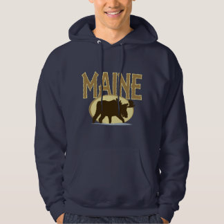 Maine Moose Hooded Sweatshirts