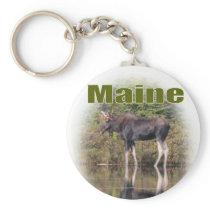 Maine Moose Keychain