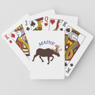 maine_moose_playing_cards r4dc52c704c9a4f8ea2c968865ea2a5ad_zaeo3_307?rlvnet=1 maine cabin lodge gifts on zazzle