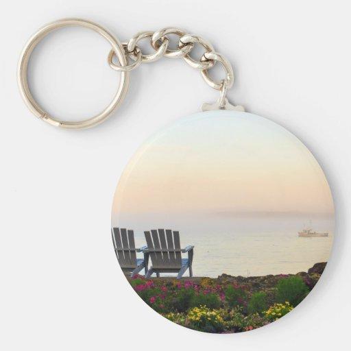 Maine Morning Mist Key Chains