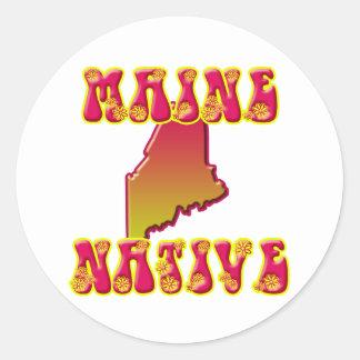 Maine Native Classic Round Sticker