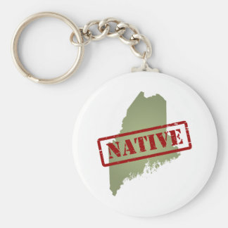 Maine Native with Maine Map Keychains