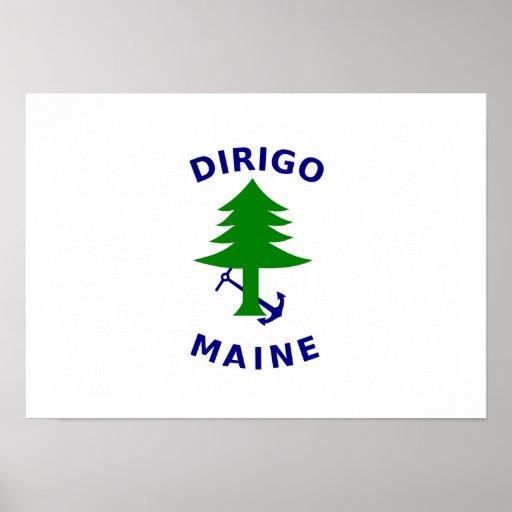 Maine Navel Ensign Print