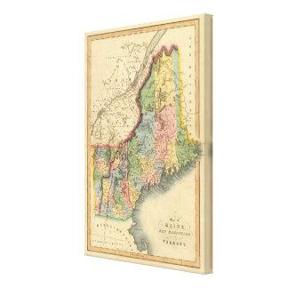 Maine, New Hampshire, Vermont 2 Canvas Print
