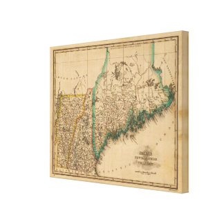 Maine, New Hampshire, Vermont Canvas Print