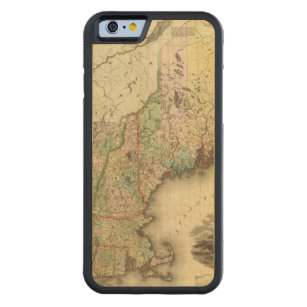 Maine, New Hampshire, Vermont, Massachusetts Carved Maple iPhone 6 Bumper Case