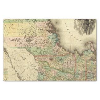 """Maine, New Hampshire, Vermont, Massachusetts 10"""" X 15"""" Tissue Paper"""